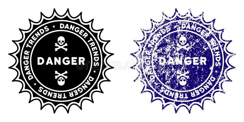 危险与难看的东西样式的趋向邮票 向量例证