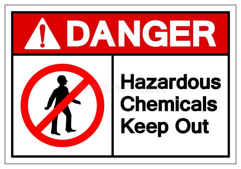 危险危害化学制品把标志标志,传染媒介例证,在白色背景标签的孤立关在外面 EPS10 向量例证