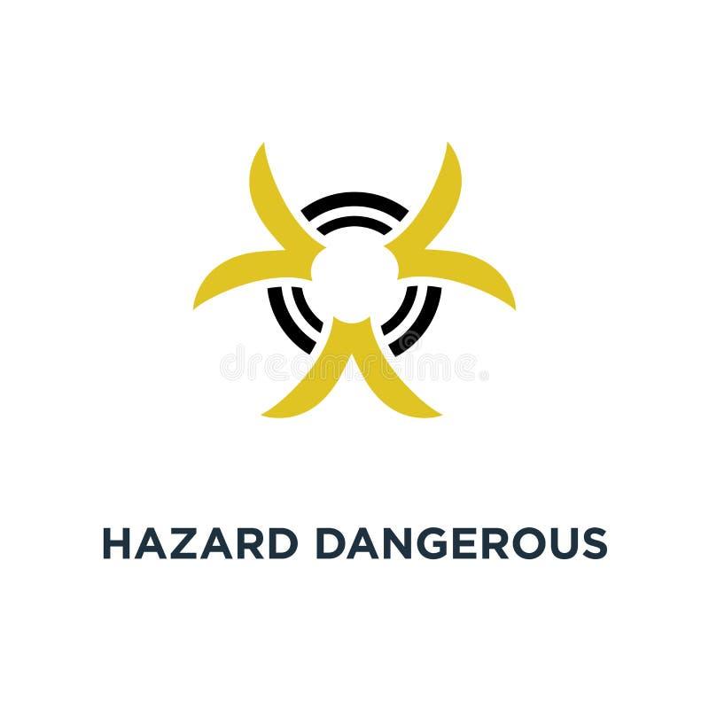 危险危险象 生物危害品概念标志设计,危险s 皇族释放例证