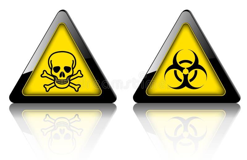 危险和警报信号3D 皇族释放例证