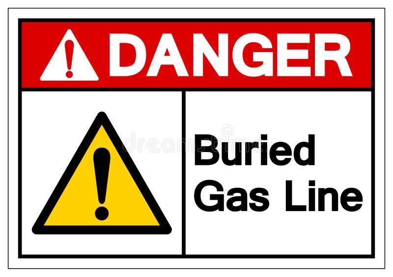 危险埋没了排气管标志标志,传染媒介例证,在白色背景标签的孤立 EPS10 库存例证