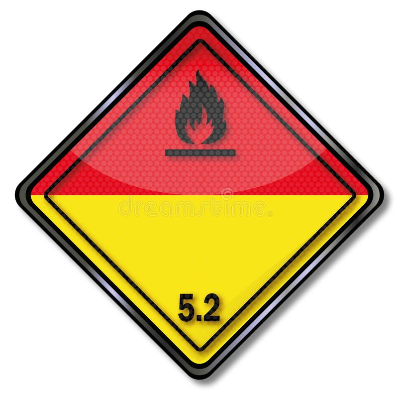 危险标志危险物品把5分类 2 库存例证