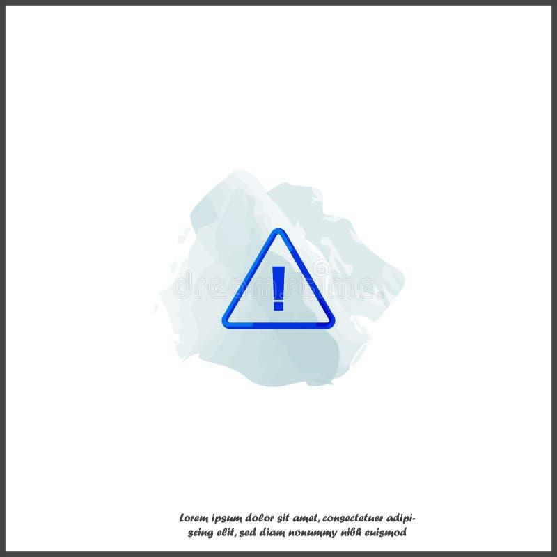 危险标志平的象 注意小心的传染媒介标志 在白色被隔绝的背景的惊叫危险警告的注意 库存例证