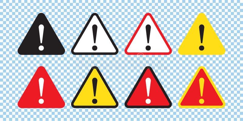 危险标志,警报信号,注意标志 危险象,警告象,注意象 向量例证