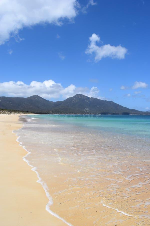 危险海滩, Freycinet国家公园,塔斯马尼亚岛 免版税库存照片