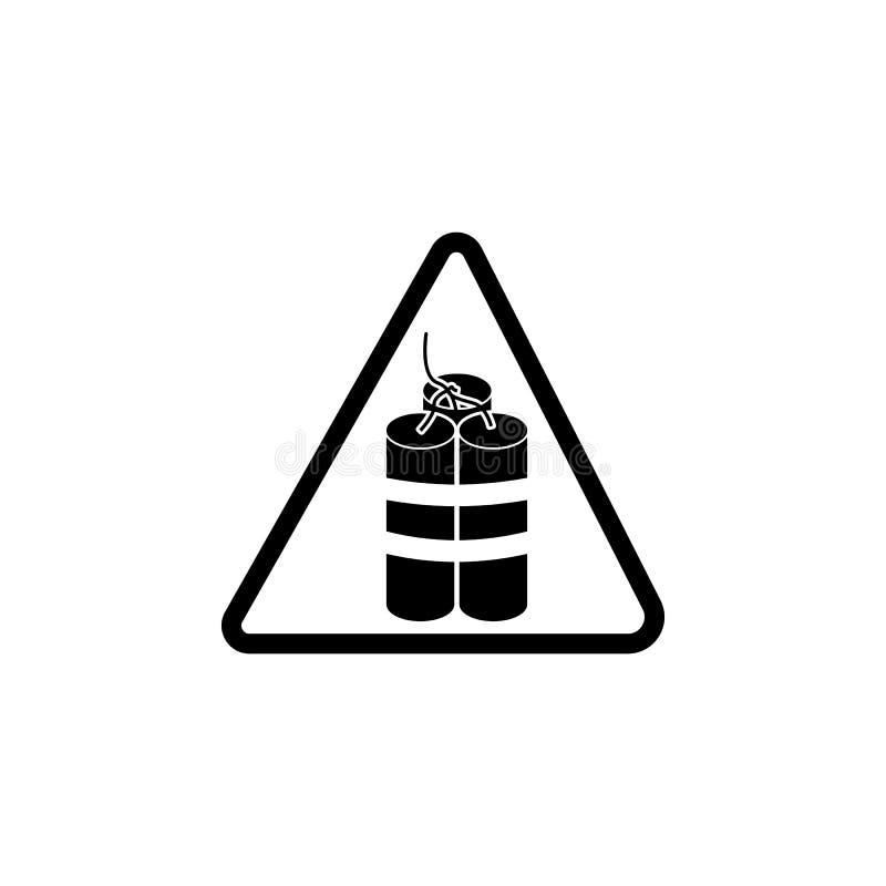 危险炸药象的标志 警告的元素流动概念和网apps的 网站设计和发展的, app dev象 向量例证