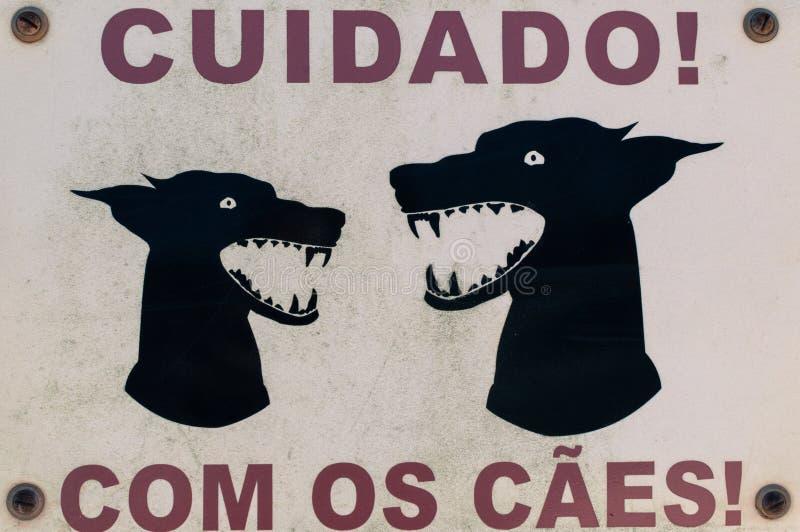 危险狗标志 库存图片