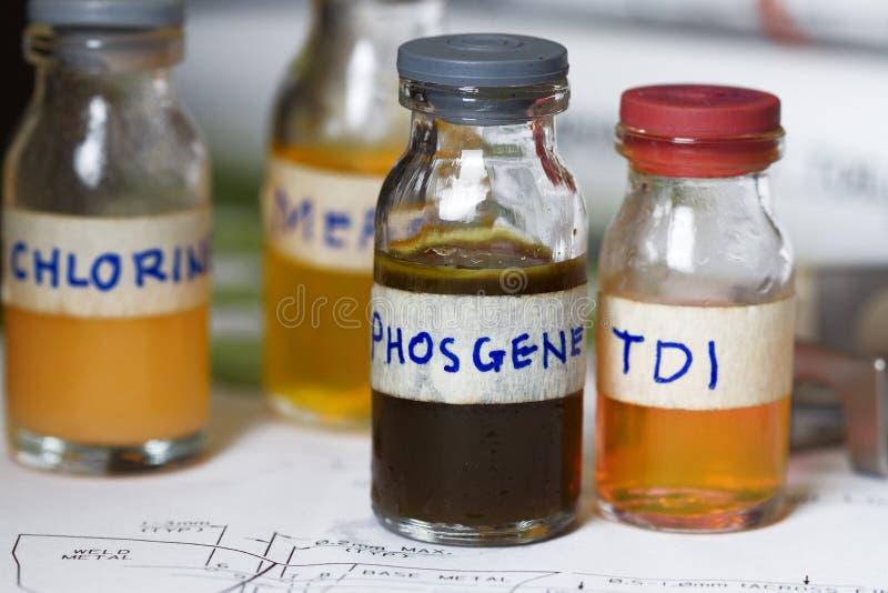 危险的化学制品 免版税库存照片
