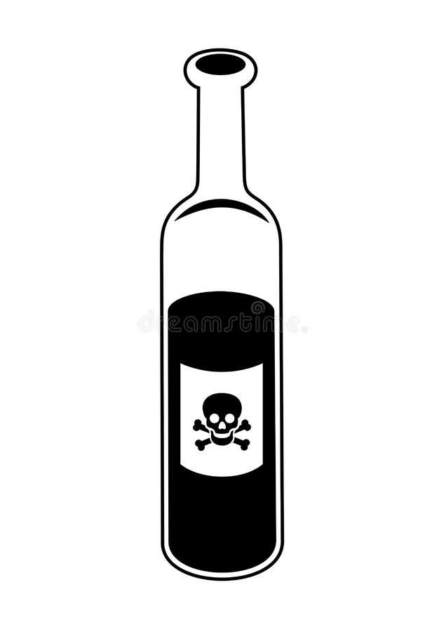 危险的酒精 库存例证