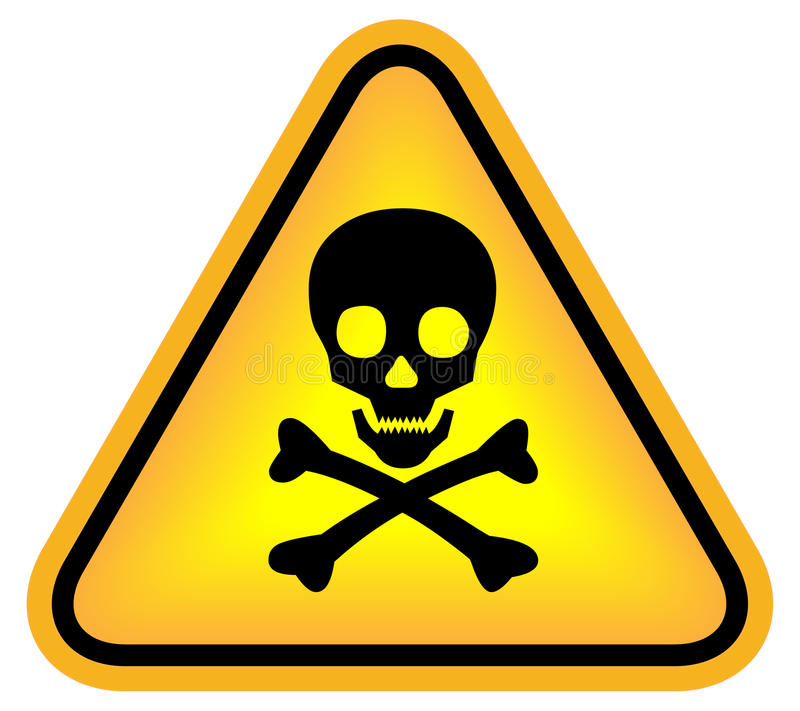 危险符号头骨 向量例证