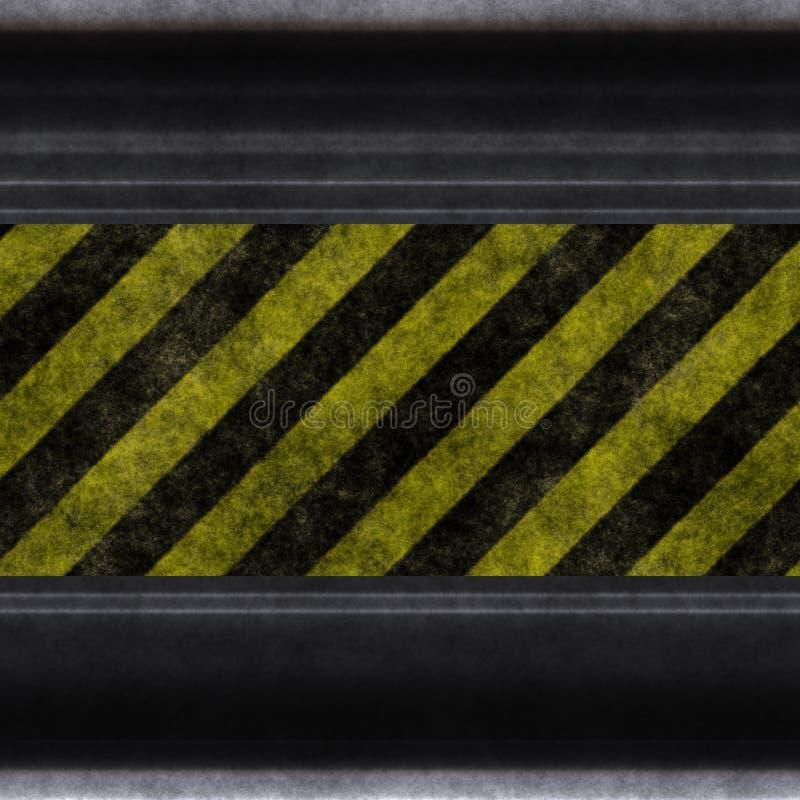 危险等级墙壁 向量例证