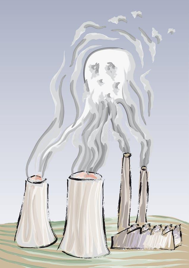 危险等级污染向量 皇族释放例证