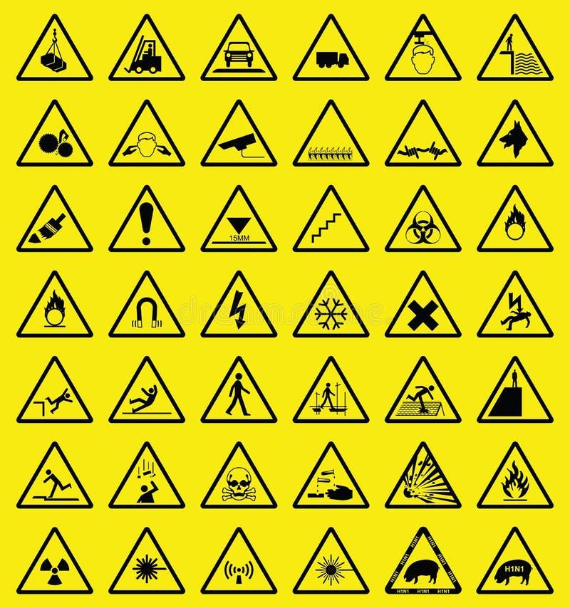 危险等级符号警告 库存例证