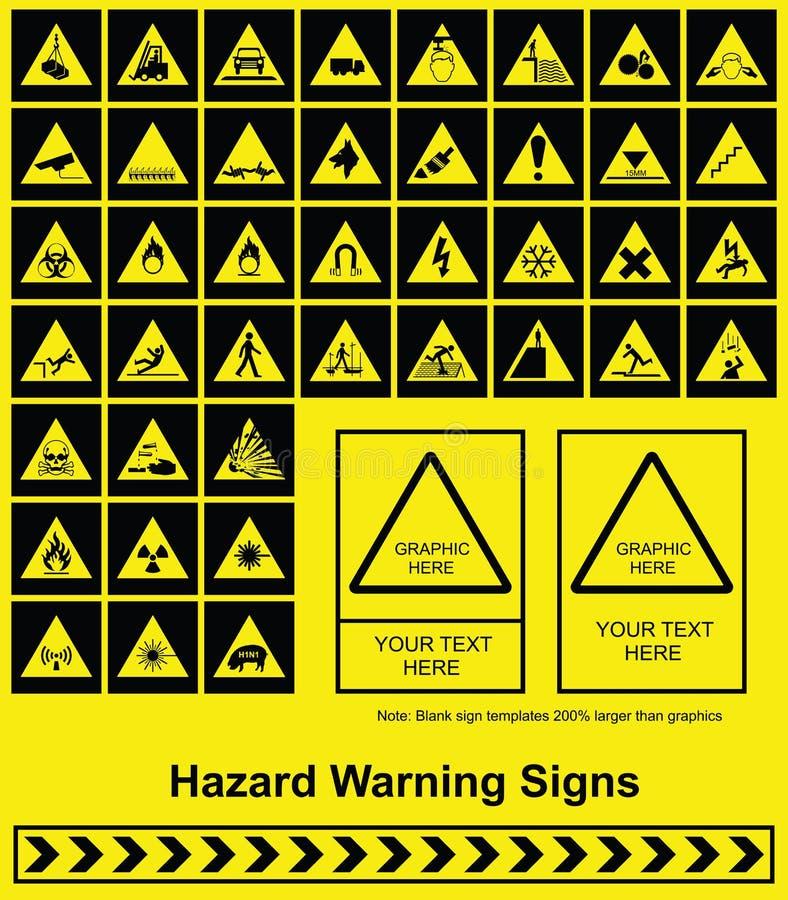 危险等级符号警告 皇族释放例证