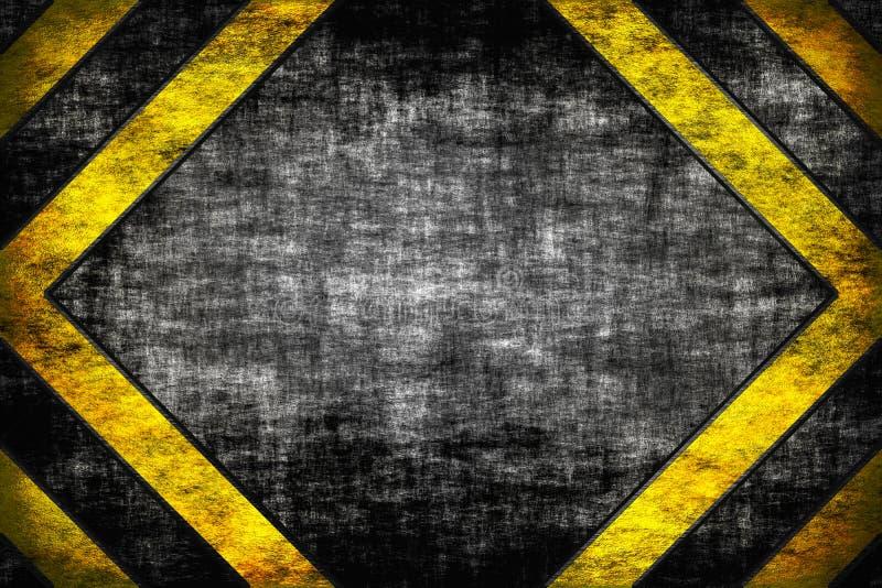 危险背景。警告线、黑色和黄色。 皇族释放例证