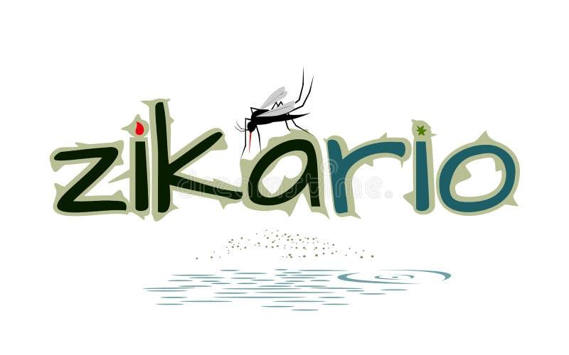 危险蚊子-病毒机敏的传染媒介例证 库存例证
