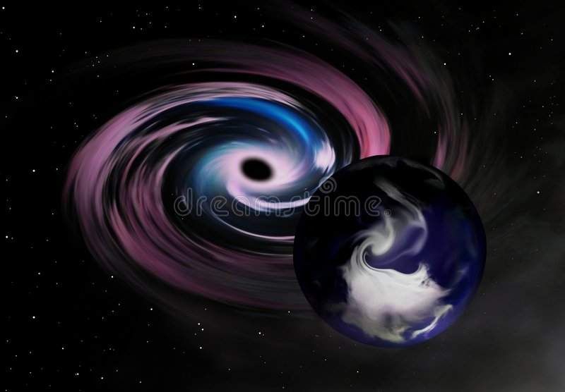 危险行星 向量例证