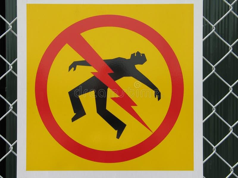 危险触电死亡符号 库存照片