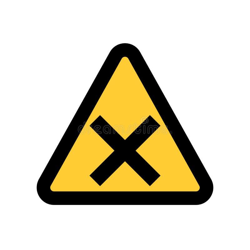危险警告关注唱歌 标志象传染媒介例证 向量例证