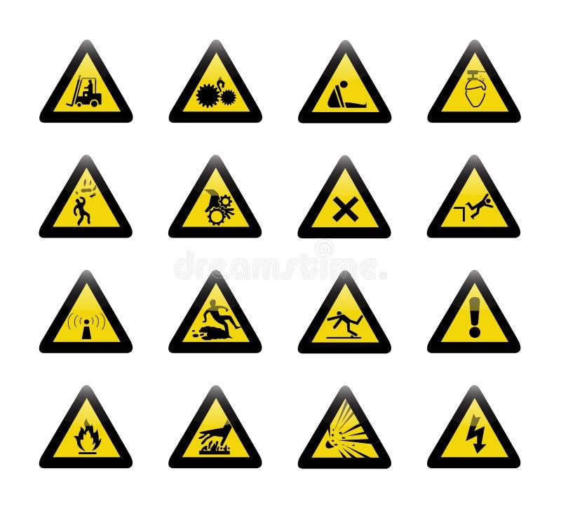 危险警报信号  向量例证