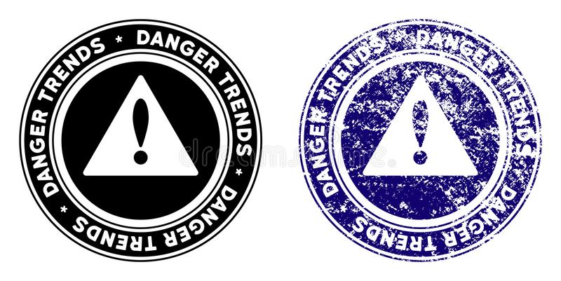 危险趋向与困厄作用的警告邮票 皇族释放例证