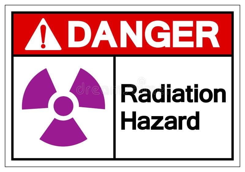危险辐射危害标志标志,传染媒介例证,在白色背景标签的孤立 EPS10 皇族释放例证