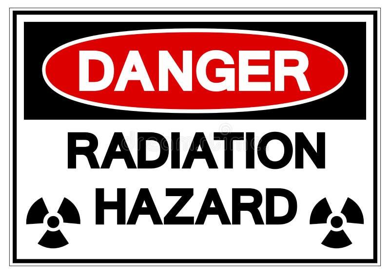 危险辐射危害标志标志,传染媒介例证,在白色背景标签的孤立 EPS10 向量例证