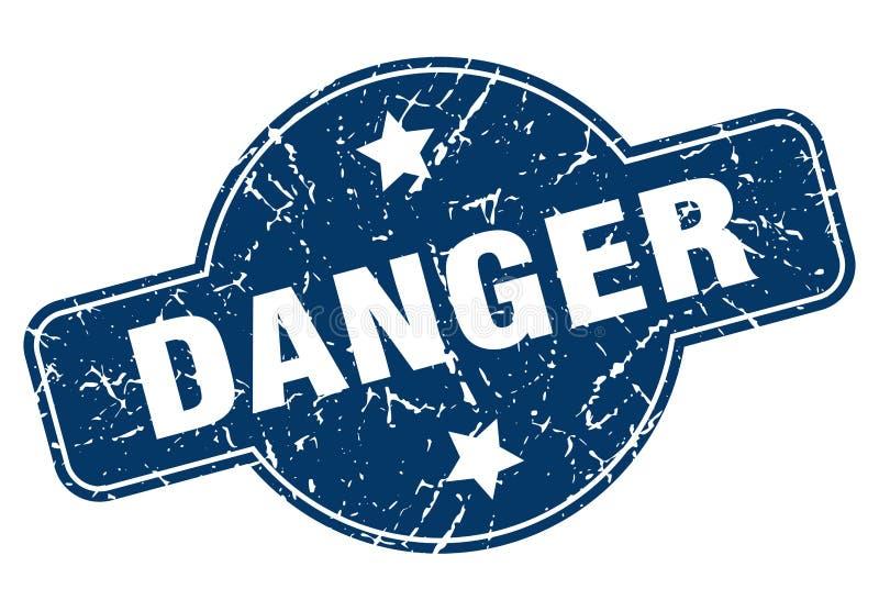 危险邮票 向量例证