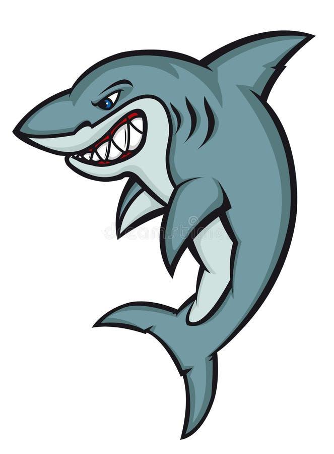 危险鲨鱼 皇族释放例证