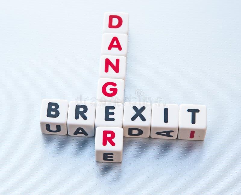危险Brexit 库存照片