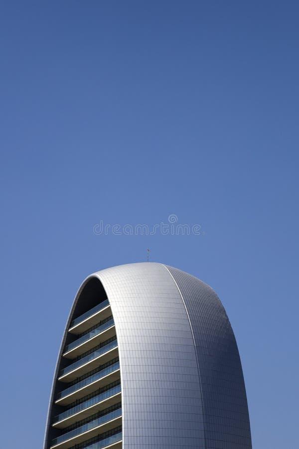 卵形大厦在利马索尔,塞浦路斯 库存图片