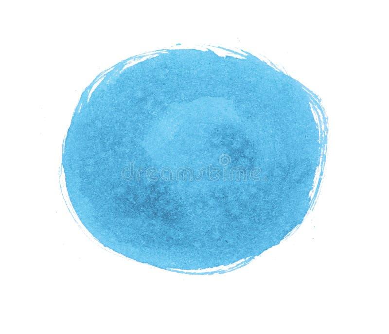 卵形污点,油漆污迹  圆的墨水斑点 皇族释放例证