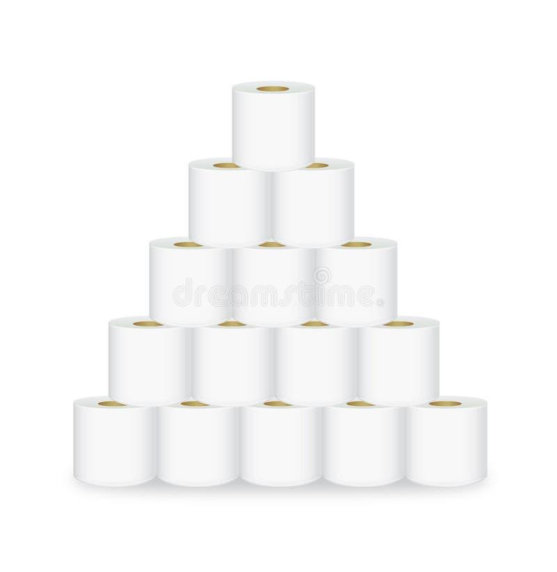 卷卫生纸金字塔显示 库存例证