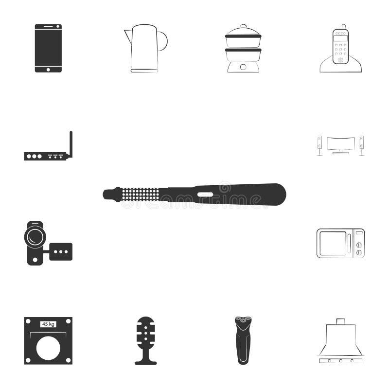 卷发夹象 详细的套家庭项目象 优质质量图形设计 其中一个网站的汇集象 皇族释放例证