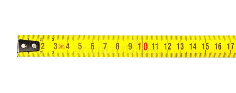 卷尺在厘米 库存照片