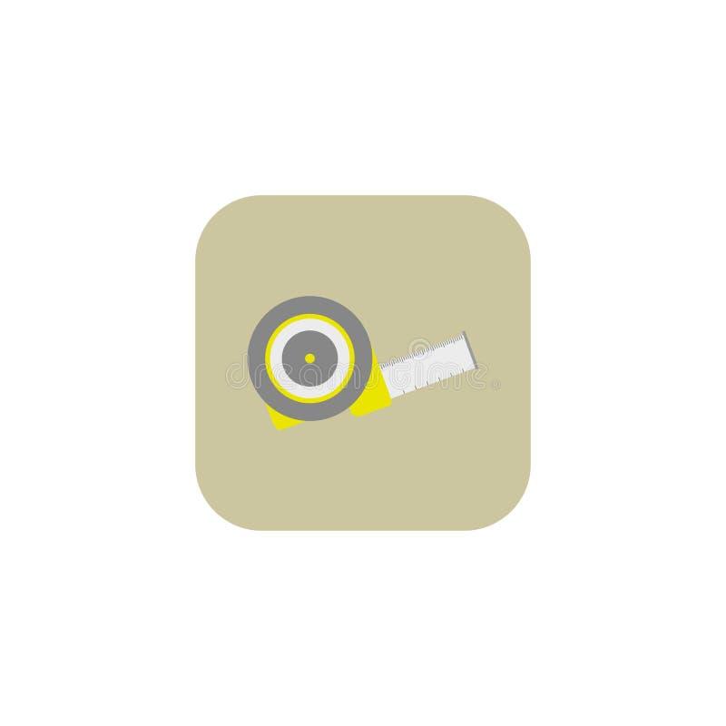 卷尺统治者 图标 徽标 也corel凹道例证向量 10 eps 库存例证