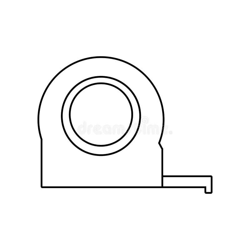 卷尺象 Constraction工具的元素为流动概念和网应用程序象的 r 库存例证