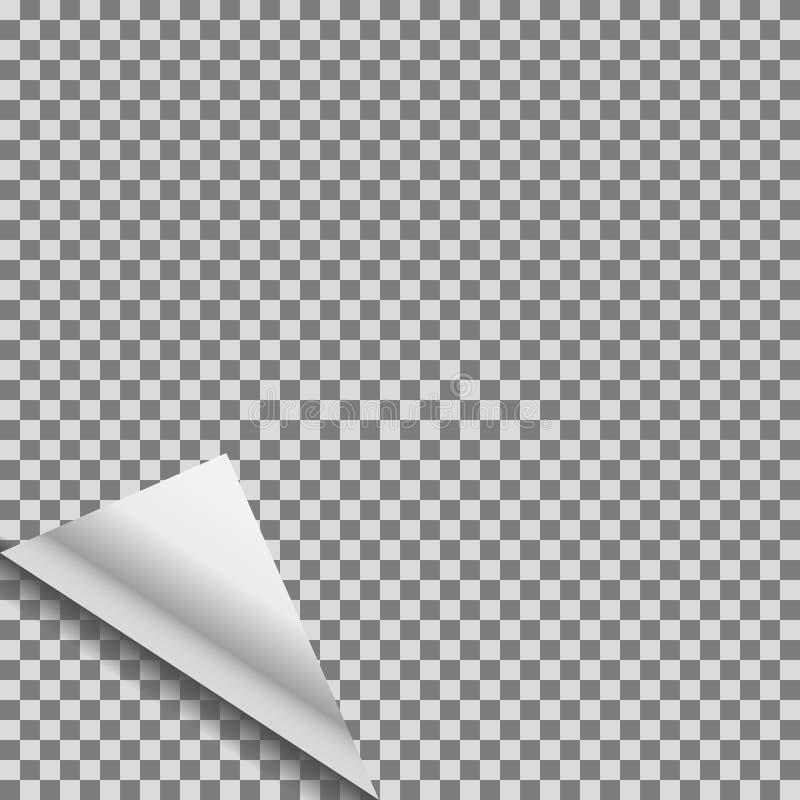 卷曲的透明箔空白传染媒介标记 库存例证