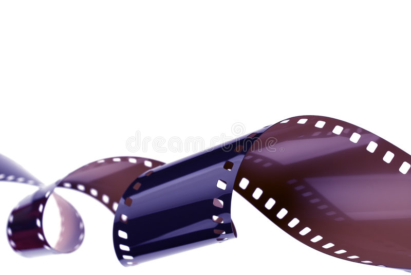 卷曲的filmstrip 库存图片