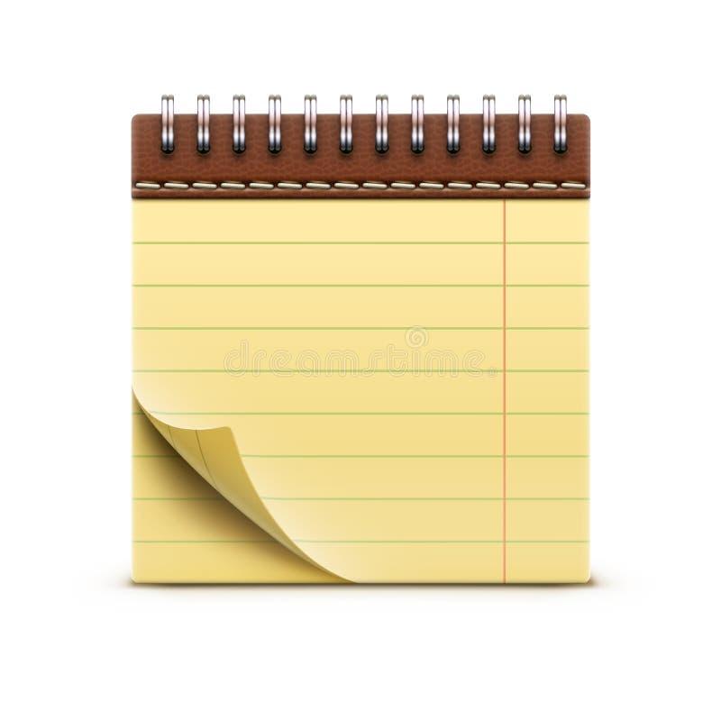 卷被限制的笔记本 皇族释放例证