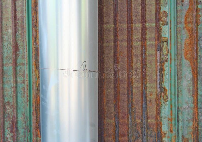 卷起的锌板料 库存图片