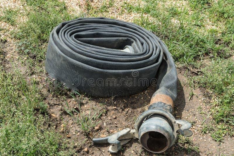 卷起的水管 免版税库存照片