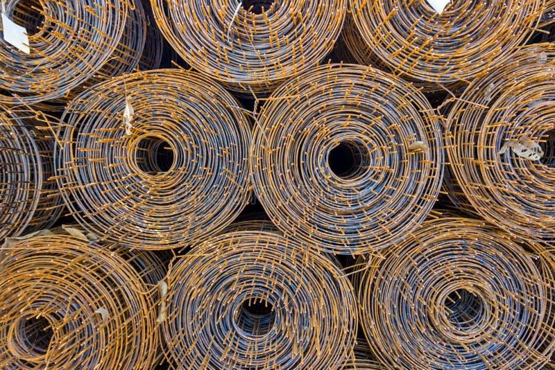 卷铁丝网钢 免版税图库摄影