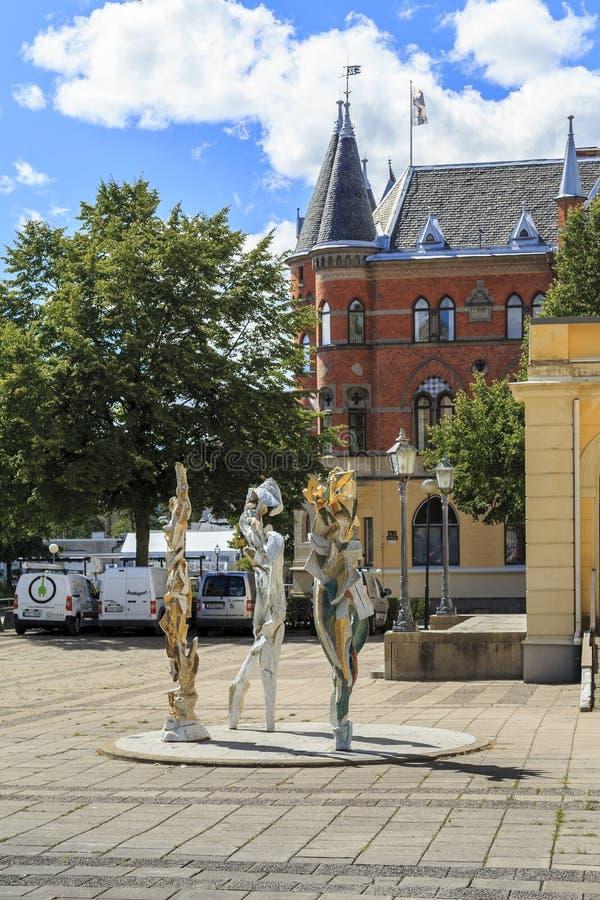 厄勒布鲁,瑞典的奇怪的纪念碑 免版税图库摄影