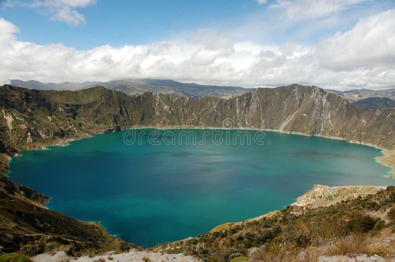 厄瓜多尔拉古纳quilotoa 免版税图库摄影