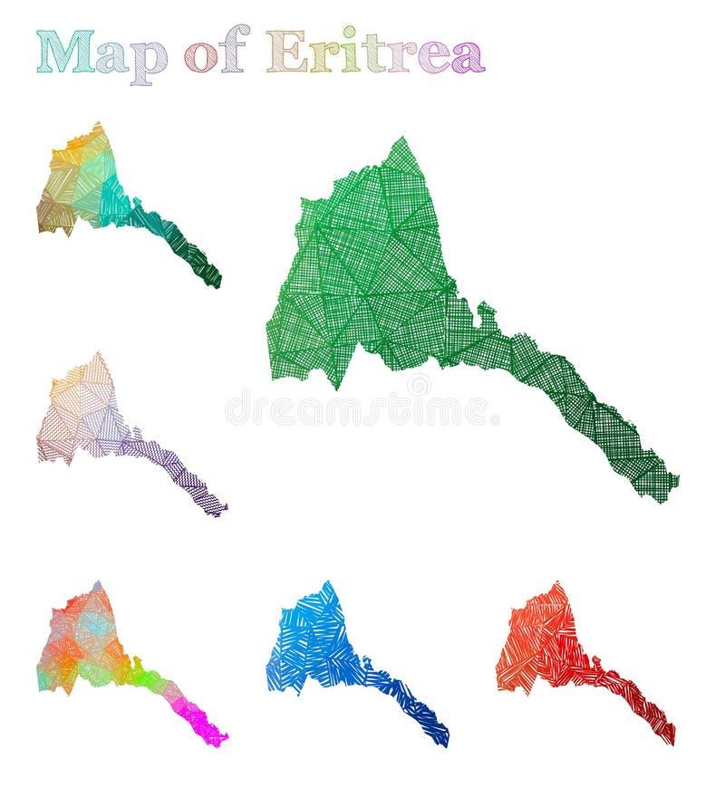 厄立特里亚手拉的地图  向量例证