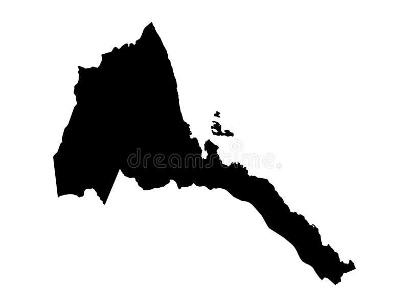 厄立特里亚黑地图  皇族释放例证