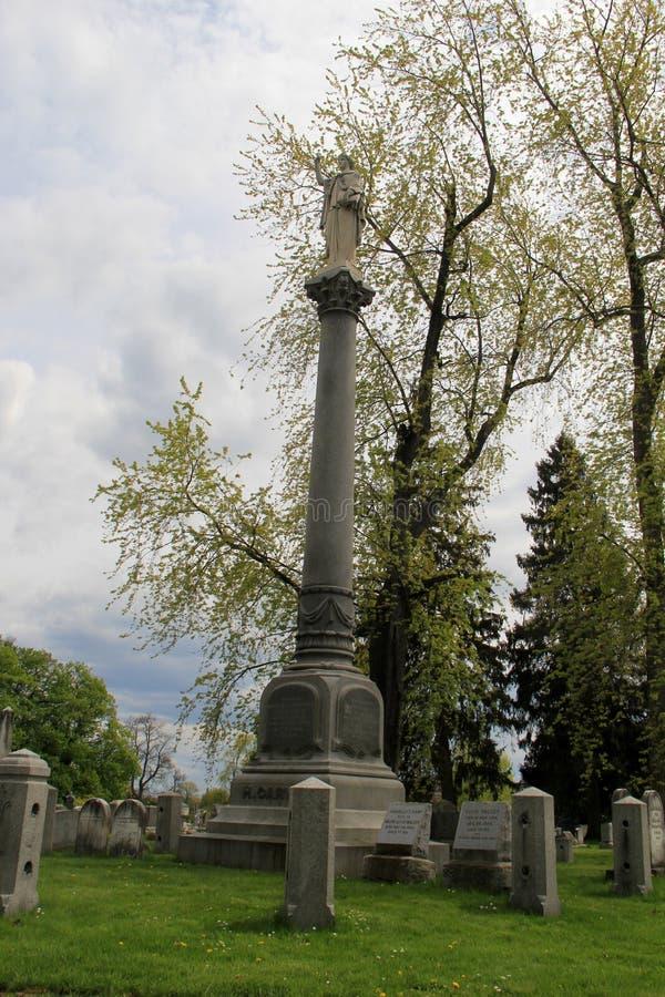 历史人物,登上希望公墓,罗切斯特,纽约坟墓, 2016年 图库摄影