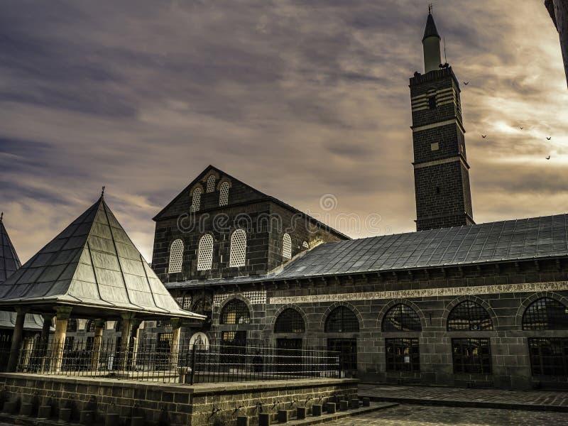 历史伟大的清真寺在迪亚巴克尔,火鸡的中心 库存照片