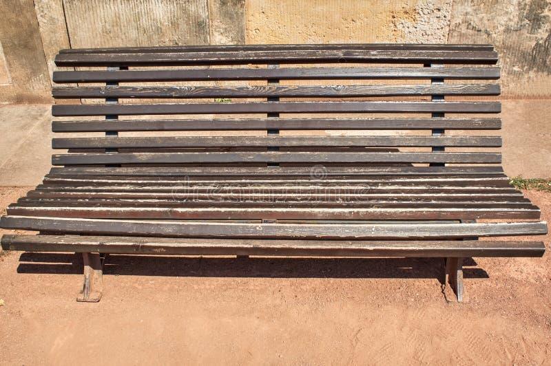 历史公园长凳 免版税库存图片